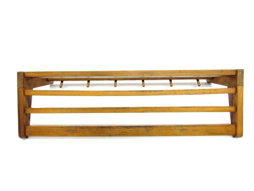 Mid Century Modern Wall Mount Coat Rack