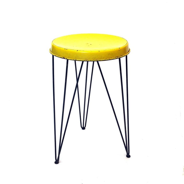 Yellow Pilastro Stool by Tjerk Reijenga