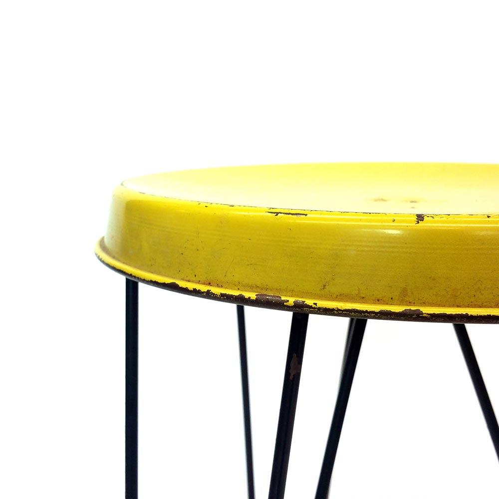 Yellow Pilastro Stool by Tjerk Reijenga